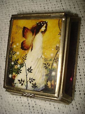Butterfly Woman Small Glass/Metal Box