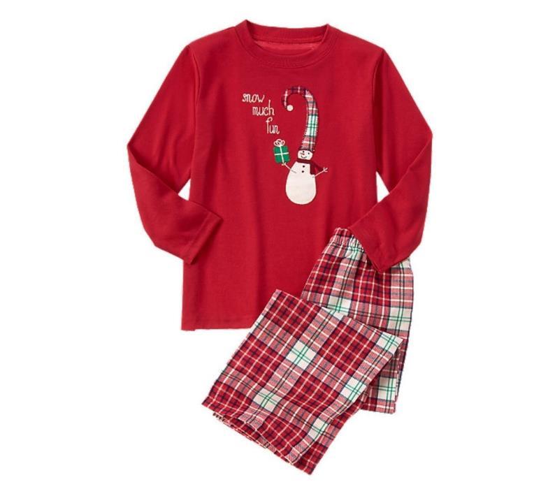 4 T Gymboree Red SNOW MUCH FUN Snowman PJ's Pajamas Set Toddler Boy New NWT