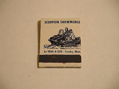 NOS Vintage Factory Scorpion Snowmobile Match Book