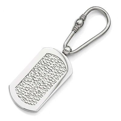 Titanium Pebble Textured Key Ring