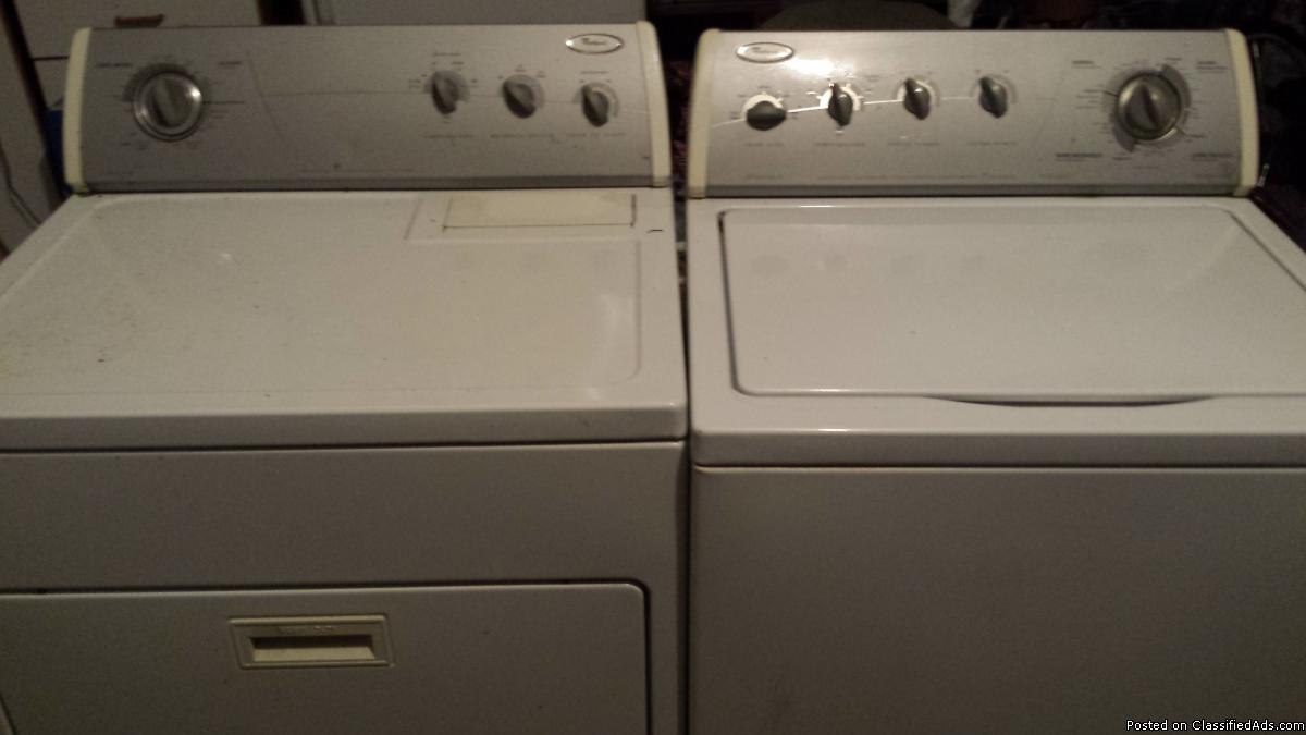 Whirlpool Imperial Series electric washer and dryer. Sold as pair