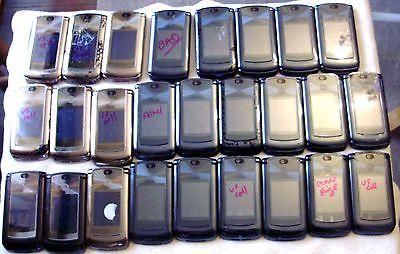 LOT OF 26 MOTOROLA V9M & 2 V8 RAZR FLIP CAMERA CELL PHONES FOR PARTS