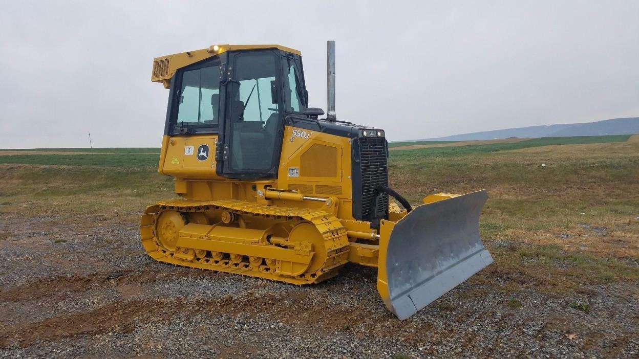 2009 John Deere 550J LT Bull Dozer Track Crawler Loader Tractor Diesel Engine