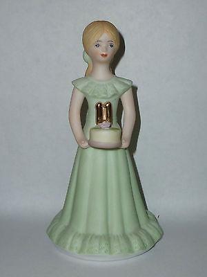 Enesco Growing UP 11 th Birthday Girls Blonde Girl Cake Topper Figurine 1981