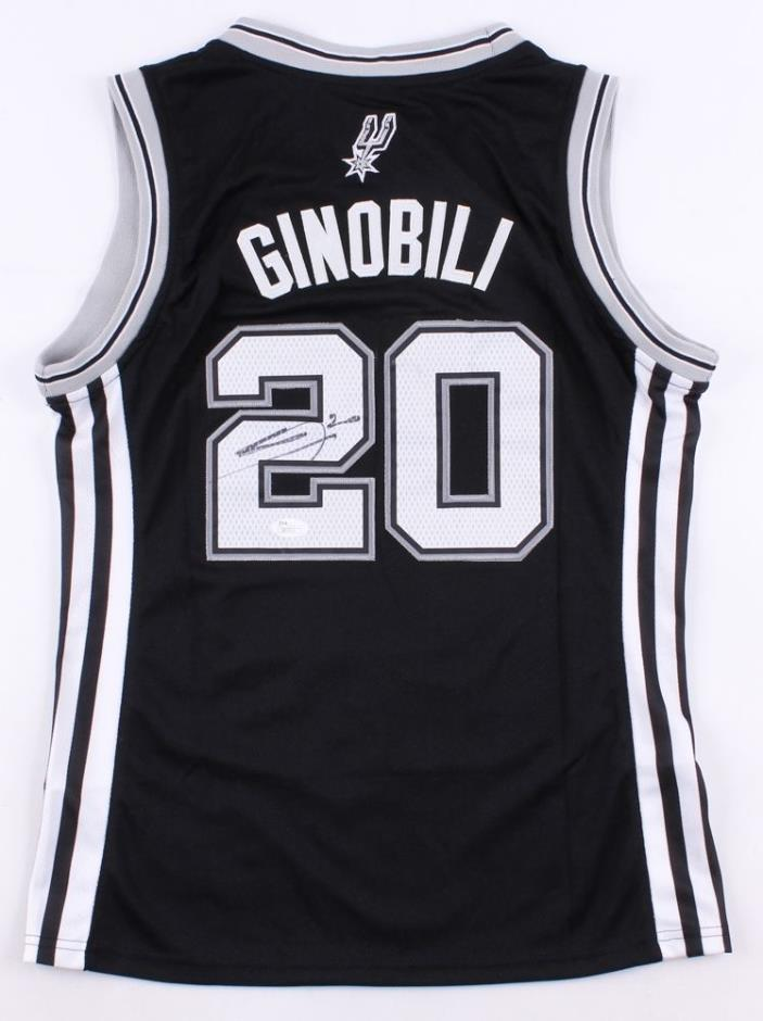 Manu Ginobili Signed Spurs Jersey (JSA) 4× NBA champion (2003, 2005, 2007, 2014)