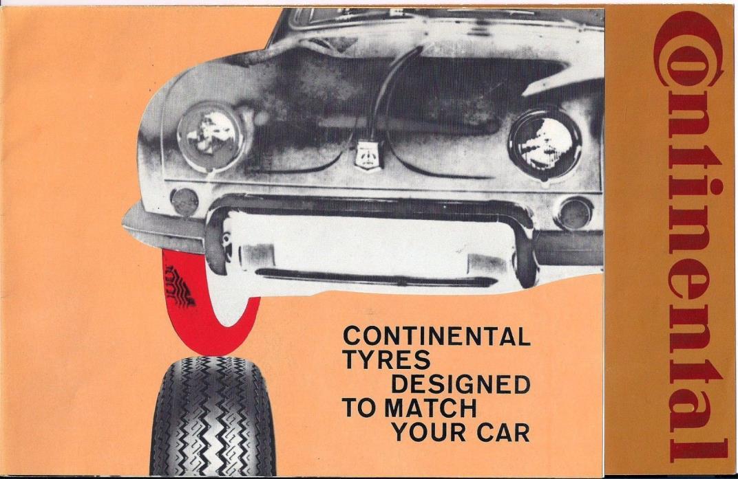 Vintage Continental tire brochure
