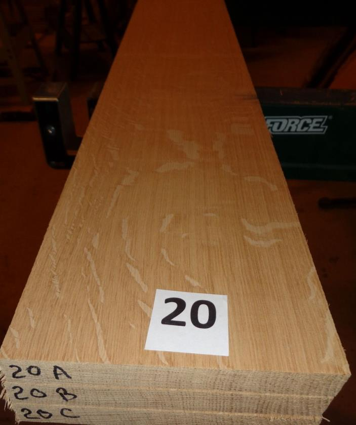 #20     Quartersawn Bookmatched White Oak Lumber / Sanded!!