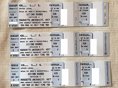 NCAA Tourney - Milwaukee - 4 side court tickets to ALL 3 SESSIONS - Sec 420