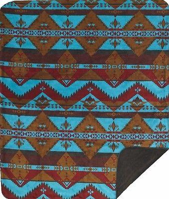 Denali Native Journey Microplush Rustic Southwestern Throw Blanket 718 USA Made