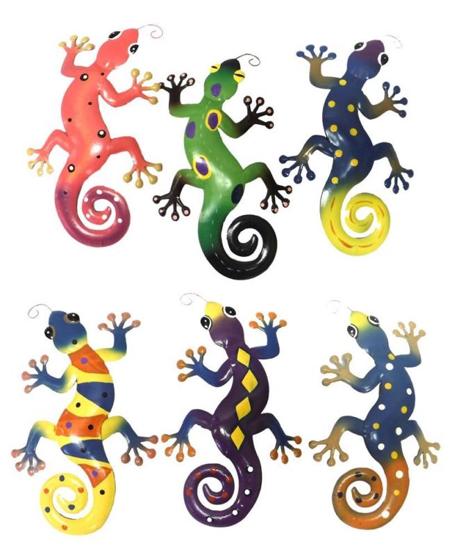 Garden Wall Indoor Outdoor Hang Art Decor Plaque Reptile Lizards Gecko Gifts