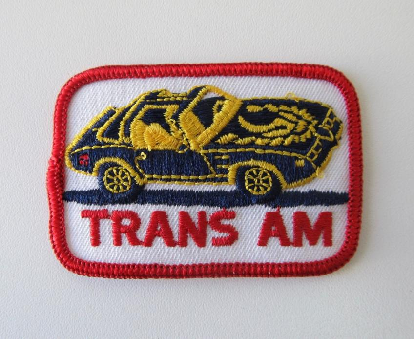 Vintage Pontiac Trans Am Firebird Embroidered Patch