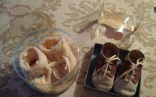 VINTAGE baby shoes lot of 2 pair