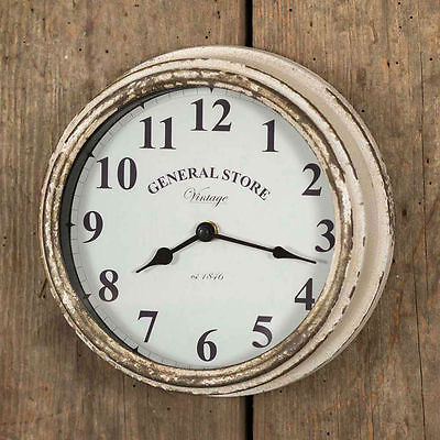 Vintage Wall Clock Decorative Antiques Rustic Country Home Decor Office Battery