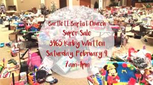 Indoor Garage Sale (3465 Kirby Whitten Pkwy, Bartlett)