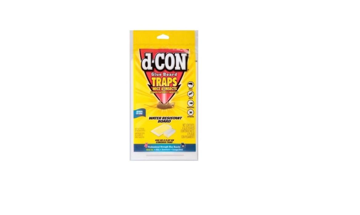 WAL-41172685d-Con Glue Board Mice & Insects Traps 4 ct Package