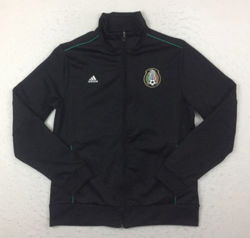 Adidas Mexico 2010 World Cup Football Soccer Black Track Jacket Women XL P42246
