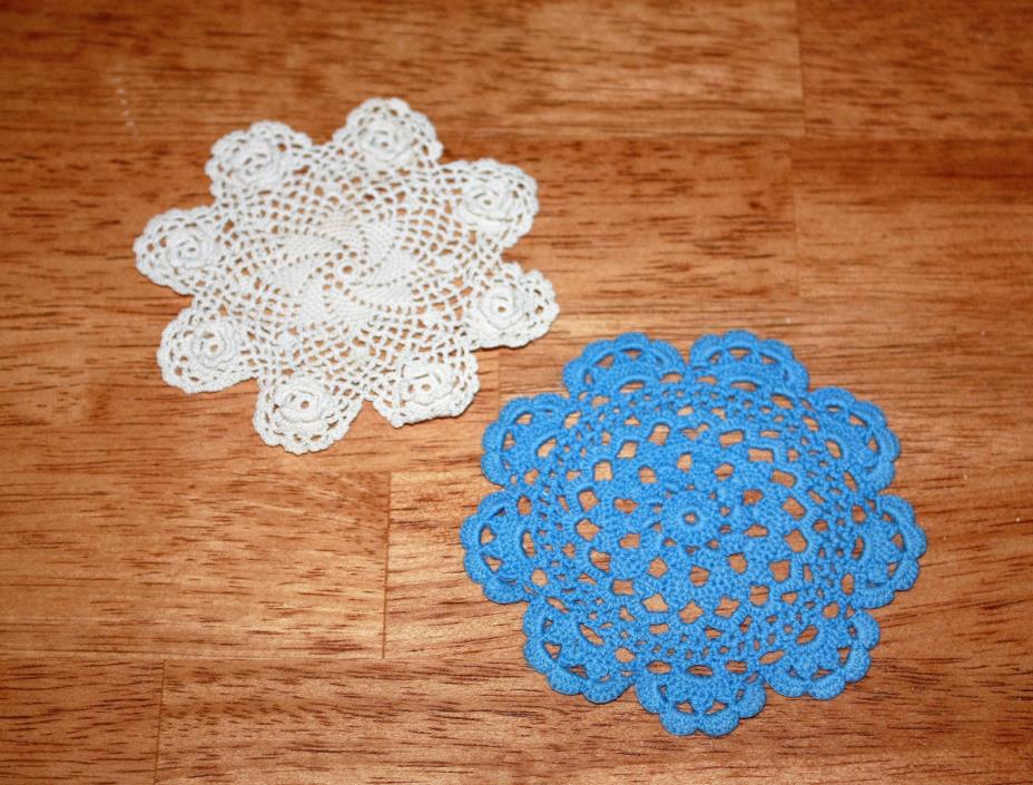 Small Handmade Crochet Doll House Doilies