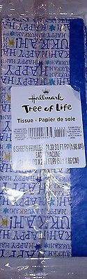 HANUKKAH Holiday TISSUE PAPER Presents GIFT WRAPTree of Life HHallmark NEW