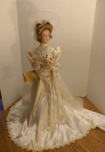 Franklin Heirloom The Gibson Girl Bride Doll 22''