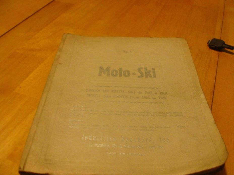 VINTAGE MOTO-SKI SNOWMOBILE PARTS BREAKDOWN 1965-1968