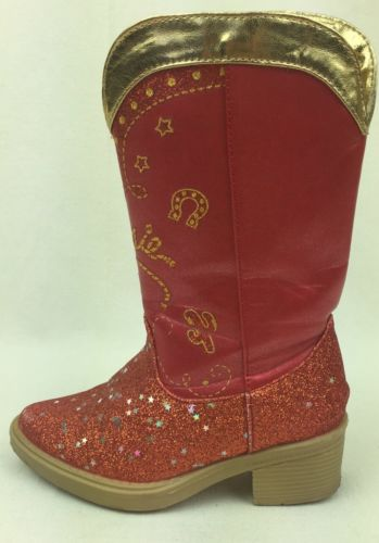 Jessie TOY STORY Size 7/8 Red Cowboy Boots Costume Disney Girls Shoes Dress-up