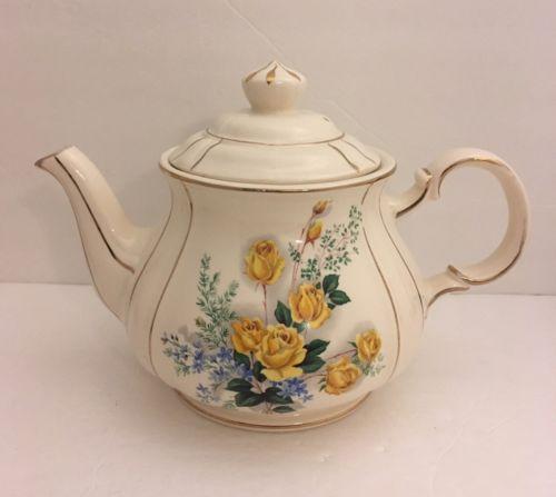 Sadler England Teapot Yellow Roses