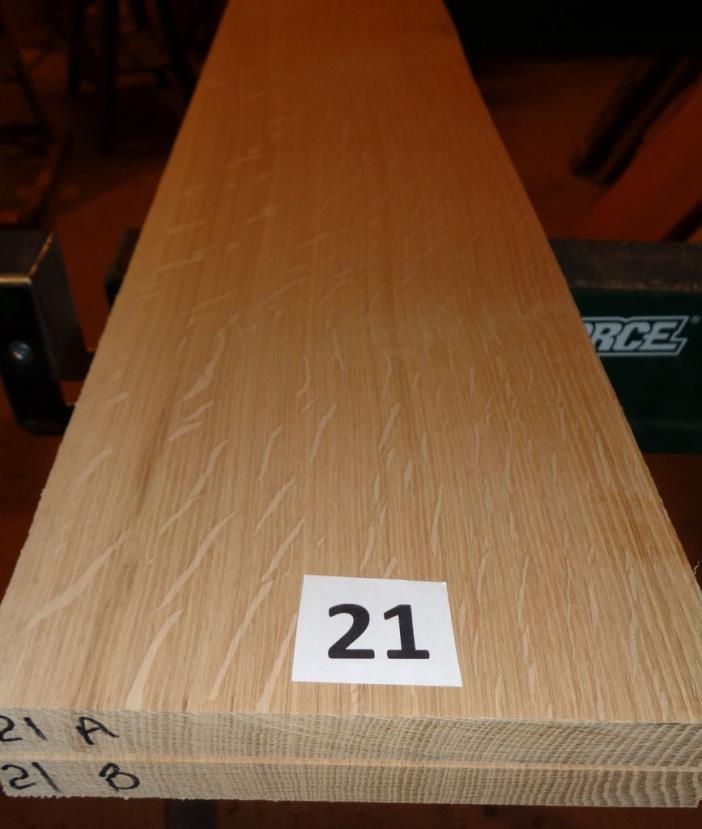 #21       Quartersawn Bookmatched White Oak Lumber / Sanded!!