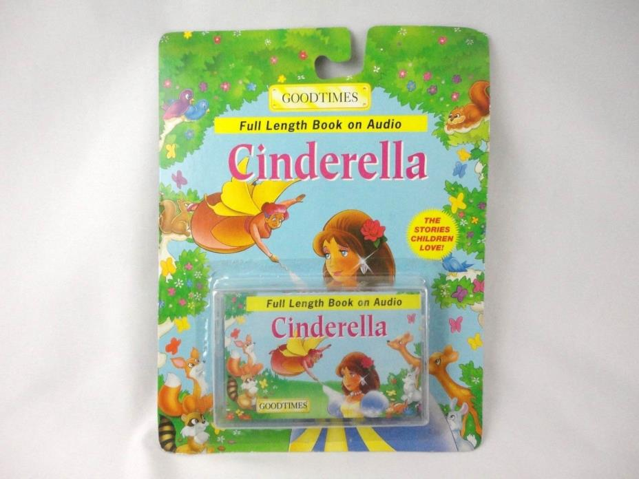 Vintage 1990'S CINDERELLA GOODTIMES CASSETTE TAPE AUDIO BOOK  RARE