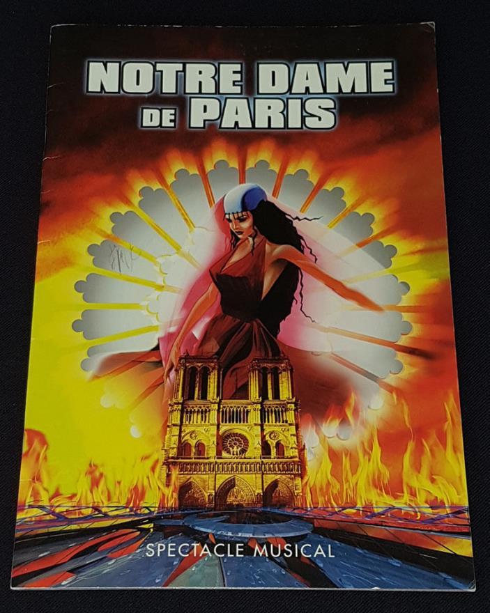 2001 - NOTRE DAME DE PARIS - MUSICAL SHOW - MONTREAL - AUTOGRAPHS (12) - PROGRAM