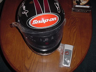 NEW DALE EARNHARDT JR #8 SNAP ON HELMET RADIO/CD PLAYER SNAPON