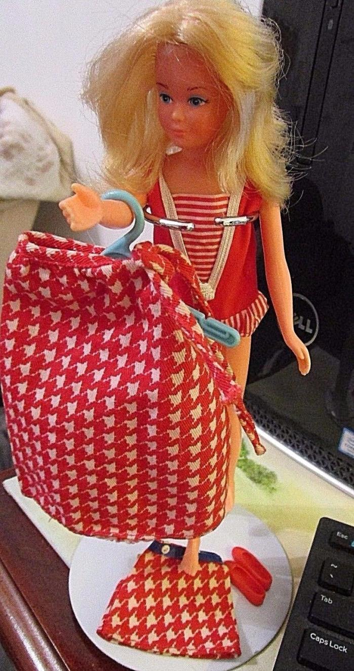 Free Growing Up Skipper Doll with Vintage Mattel Fashions and Shoes