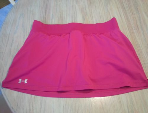 Women's size XL Under Armour heat gear pink tennis skort