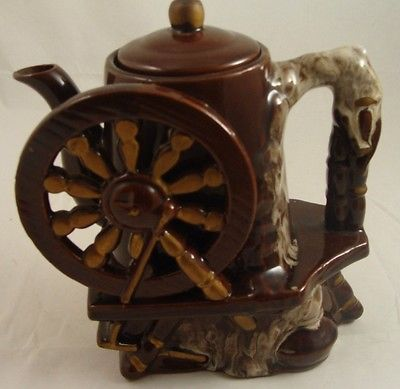 Vintage TILSO Japan Teapot Watermill