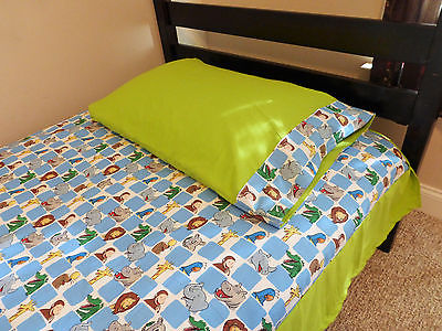 Curious George Twin Sheet Set, Curious George Bedding 100% cotton