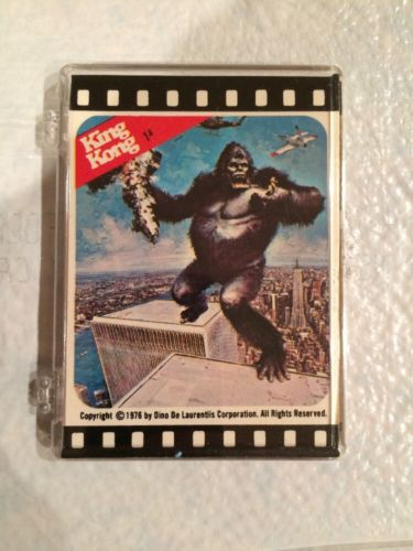 1976 Topps King Kong Complete 11-Sticker Trading Card Set