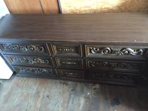 Wood Bassett 9 drawer Dresser (Port Neches)