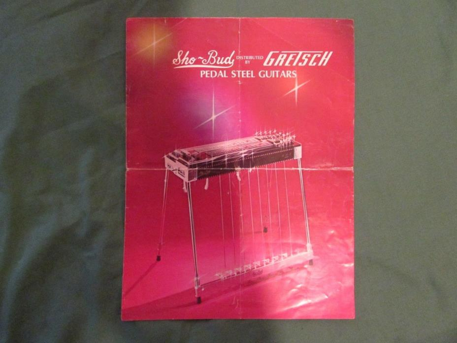 Sho-Bud Distributed By Gretsch Pedal Steel Guitars Catalog