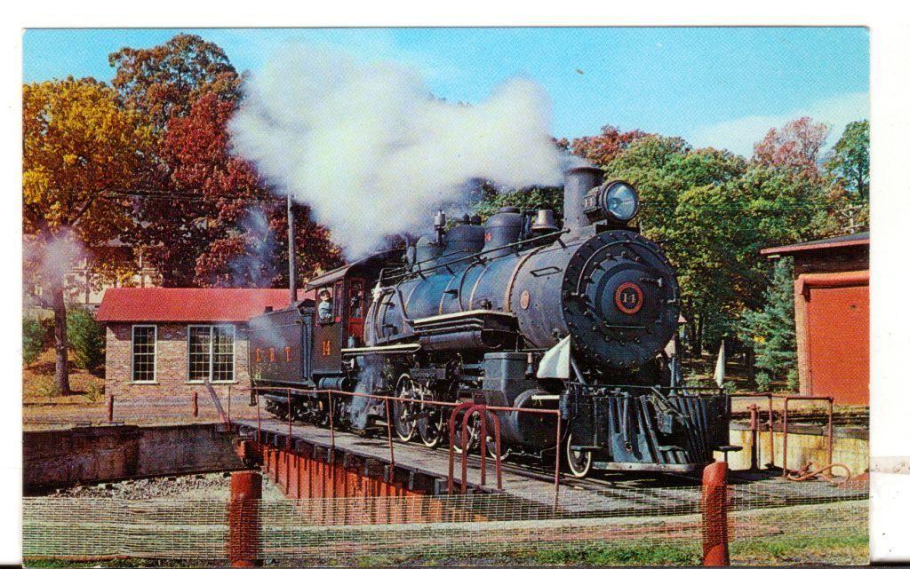 Undated Unused Postcard East Broad Top Railroad Rockhill Furnace PA Engine No 14
