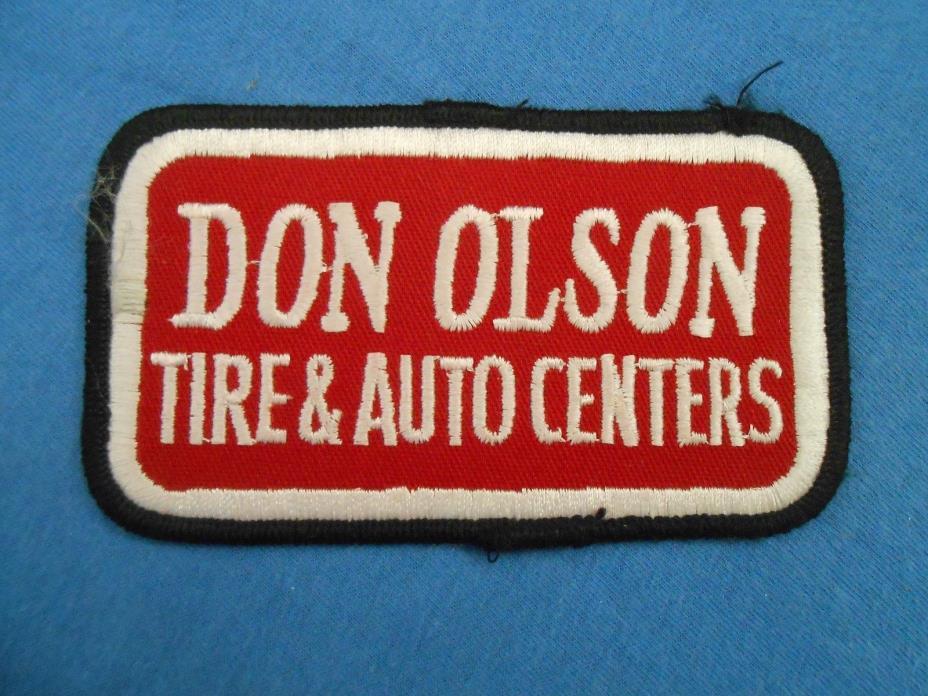 Don Olson TIRE & AUTO Center Mechanics Uniform Patch Trucks Performance Racing