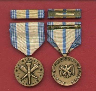 US National Guard Armed Forces medal with ribbon bar