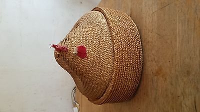 old chicken sewing basket