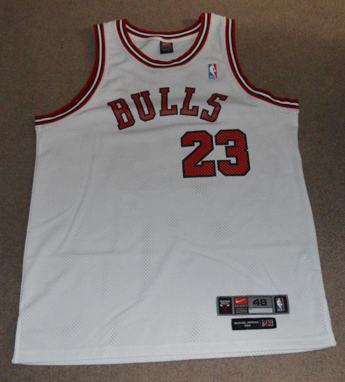 Michael Jordan Chicago Bulls Nike Flight 8403 Rookie Jersey 48 Authentic 1984