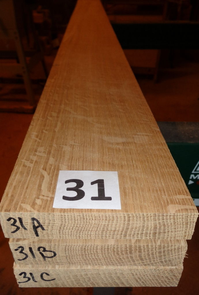 #31       Quartersawn Bookmatched White Oak Lumber / Sanded!!