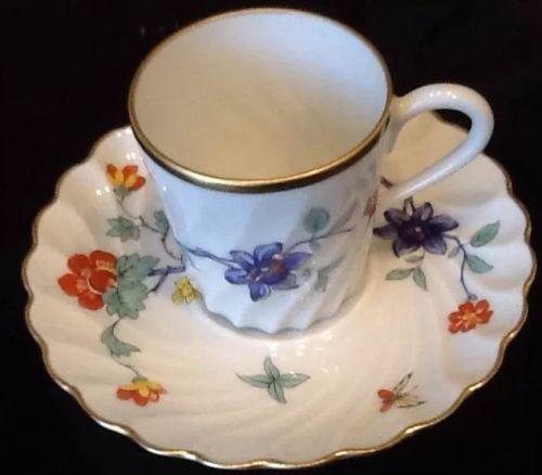Haviland Limoges Porcelain Demitasse Cup & Saucer Danbury Mint EUC