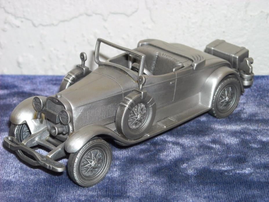 Danbury Mint Pewter 1927 Lincoln Sportster