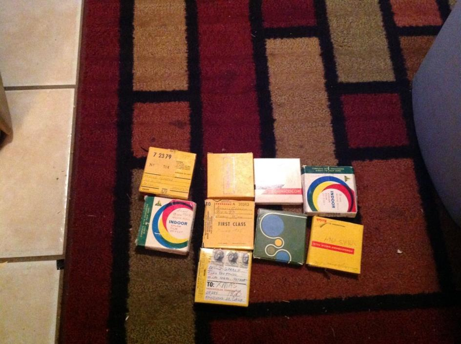 9- 8mm FILM REELS FAMILY CHRISTMAS 1957-1966 ESTATE FIND