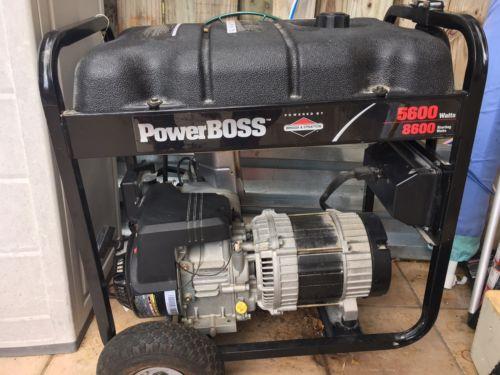 Briggs & Stratton PowerBoss Generator 5600 Watts Never Used