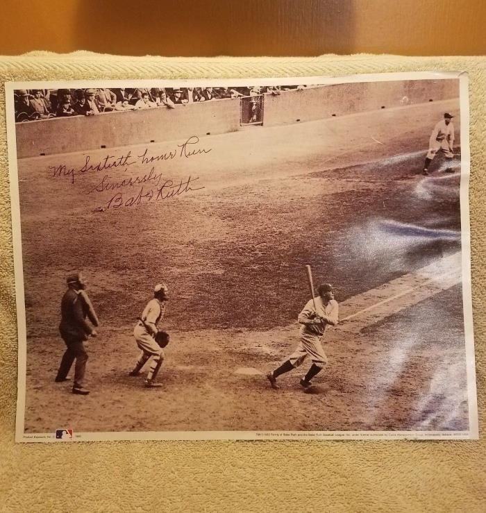 Babe Ruth Print No. 5 The 60th - Babe Connects 11