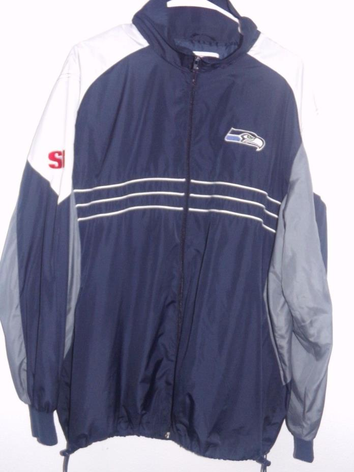 Vintage Seattle Seahawks NFL Windbreaker Men's Jacket - Size X Large