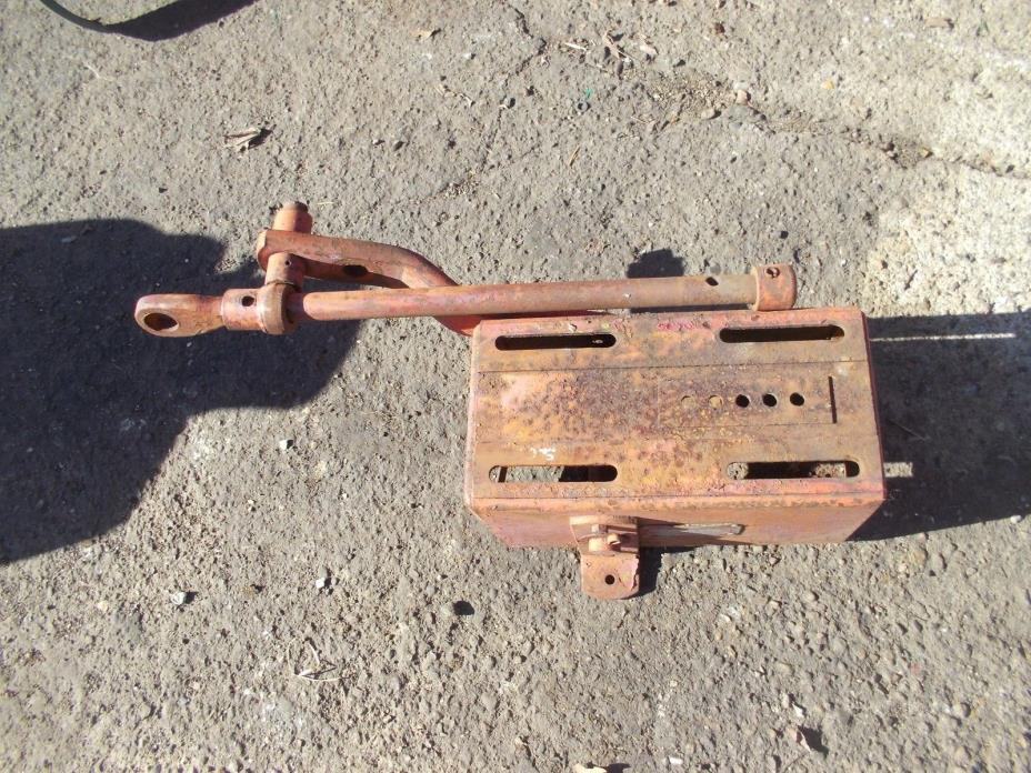 Farmall IH SC Super C tractor tool box seat base - tag & 2pt fasthitch bracket